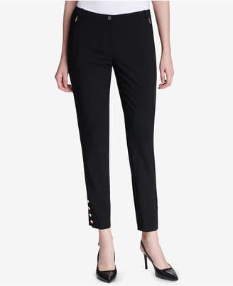 Calvin Klein Button-Hem Ankle Pants