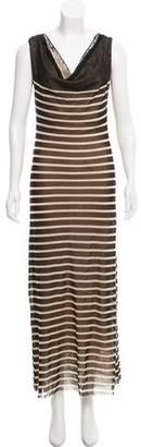Jean Paul Gaultier Soleil Striped Maxi Dress
