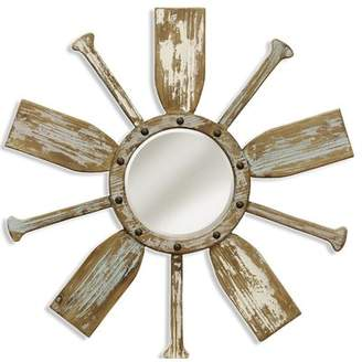 Highland Dunes Hiers Nautical Wooden Beveled Accent Mirror