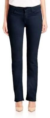 Sateen Slim-Straight Jeans