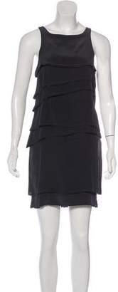 Vena Cava Mini Silk Tiered Dress