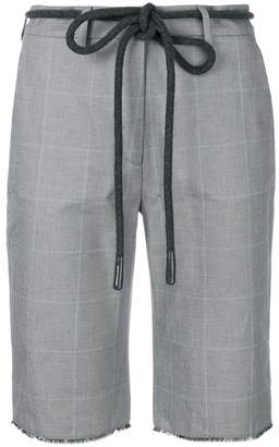 Off-White checked cycling shorts