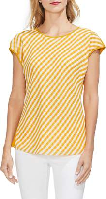 Vince Camuto Anne Klein Gingham Front Cap Sleeve Top