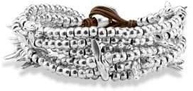 Uno de 50 Silver Beaded Bracelet