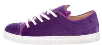 Charlotte Olympia Purrrfect Velvet Sneakers w/ Tags