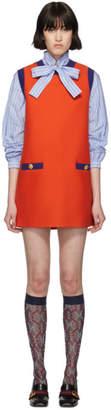 Gucci Red and Blue Bicolor Mini Dress
