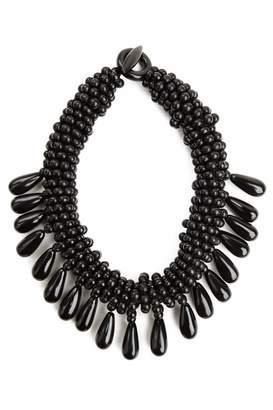Josie Natori Horn Cluster Necklace