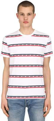 Levi's Logo Stripe Print Cotton Jersey T-Shirt