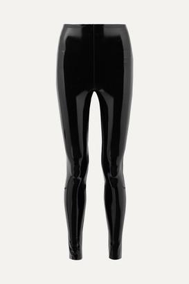 Commando Stretch-vinyl Leggings - Black