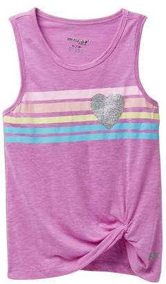 Marika Girls Rainbow Heart Knot Front Racerback Tank (Big Girls)