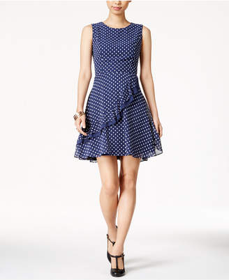 Maison Jules Ruffled Fit & Flare Dress, Created for Macy's $79.50 thestylecure.com