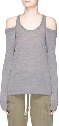 Alexander Wang 'Wash & Go' cold shoulder Merino wool sweater