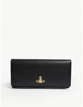 Vivienne Westwood Multi Purpose Womens Black Orb Design Victoria Classic Leather Wallet