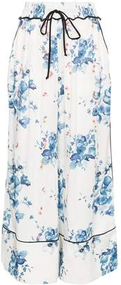 Off-White x Browns floral print wide-leg pyjama trousers