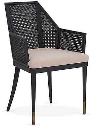 Kara Mann for Milling Road Cane Armchair - Lilac
