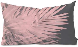 Deny Designs Emanuela Carratoni Blush Palm Leaves Oblong Throw Pillow