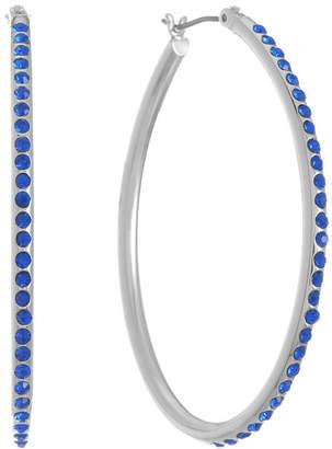 Liz Claiborne Blue 49mm Hoop Earrings