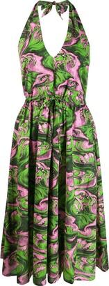 McQ printed halterneck dress