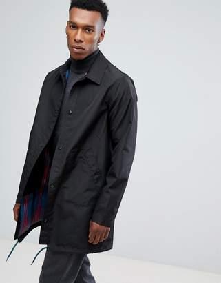 Paul Smith Reversible Trench Coat in Black