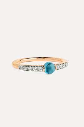 Pomellato M'ama Non M'ama 18-karat Rose Gold, Diamond And Topaz Ring