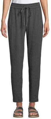 Eileen Fisher Herringbone Drawstring Slouchy Pants, Plus Size