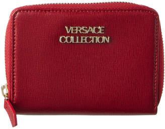 Versace Leather Zip Around Wallet