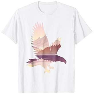 Eagle Unique Patterned Landscape Wildlife Gift T-Shirt
