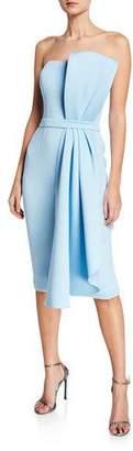Jovani Bustier Scuba Dress with Side Bow Detail