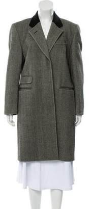 Burberry Virgin Wool Knee-Length Coat Black Virgin Wool Knee-Length Coat