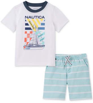 Nautica (ノーティカ) - Nautica Baby Boys 2-Pc. Graphic T-Shirt & Shorts Set