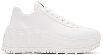 Miu Miu White Platform Leather Sneakers