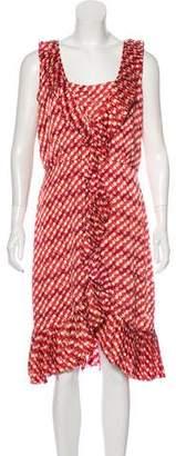 Tory Burch Ruffle-Accented Midi Dress