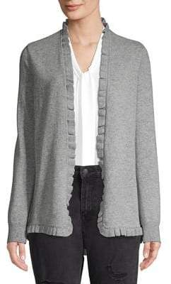 Ply Cashmere Ruffled Cashmere Flannel Cardigan