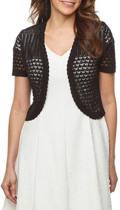 Ronni Nicole Womens Short Sleeve Shrug