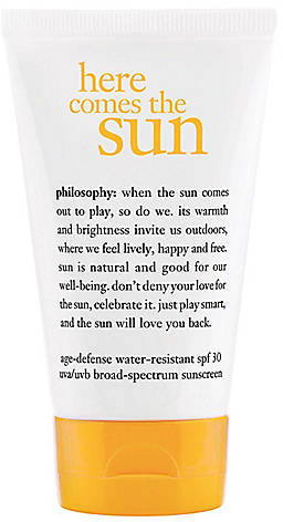 philosophy here comes the sun: spf30 anti-aging for face & body 4oz