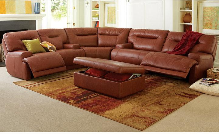 Ricardo Leather Storage Ottoman