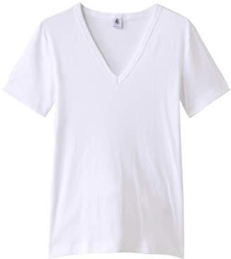 Petit Bateau (プチ バトー) - プチバトー Vネック半袖Tシャツ