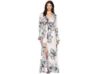 Alexia Admor Etched Floral Maxi Dress Women's Dress