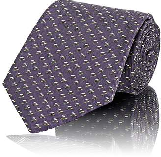 Fairfax Men's Micro-Diamond-Jacquard Silk Twill Necktie