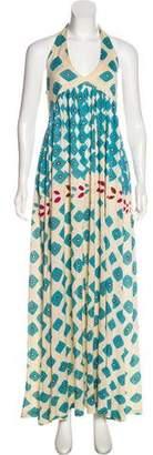 Diane von Furstenberg Linen-Blend Casual Maxi Dress