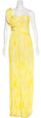 Thakoon Plissé One-Shoulder Dress
