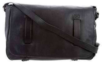 Tomas Maier Leather Messenger Bag
