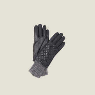 Sandro Quilted Leather Gloves