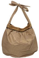 Gold Boho Style Slouch Bag