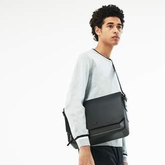 Lacoste Men's Chantaco Matte Pique Leather Flap Bag