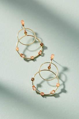 Anthropologie Cerise Barred Hoop Earrings