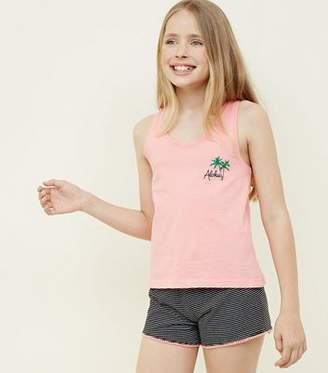 New Look Teens Coral Aloha Pyjama Set