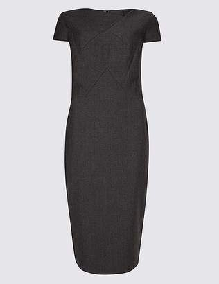 Marks and Spencer Textured Short Sleeve Bodycon Midi Dress