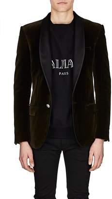 Balmain Men's Satin-Lapel Velvet One-Button Sportcoat