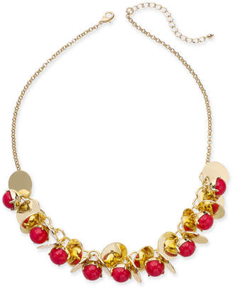 "INC International Concepts I.n.c. Gold-Tone Disc & Stone Bauble Necklace, 21"" + 3"" extender, Created for Macy's"